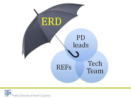 REGIONAL EDUCATION FACILITATORS The ERD Umbrella.
