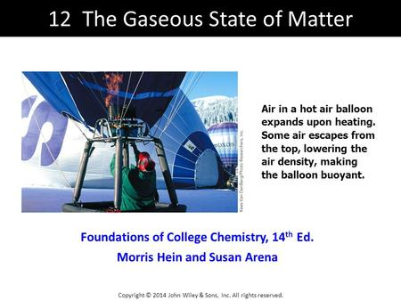 12 The Gaseous State of Matter