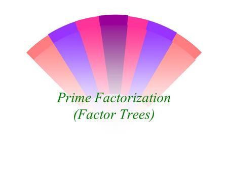 Prime Factorization (Factor Trees)