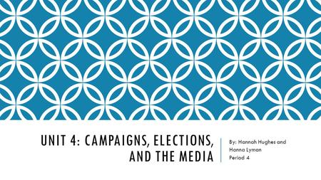 Unit 4: Campaigns, Elections, and the media
