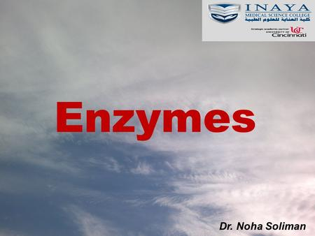 Enzymes Dr. Noha Soliman.
