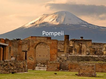 Pompeii. History The city of Pompeii is a partially buried Roman town- city near Naples. Along with Herculaneum, Pompeii was partially destroyed and buried.