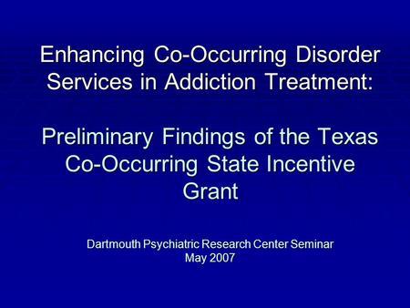 co occurring disorders and addictio essay