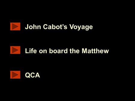 Www.ks1resources.co.uk John Cabot's Voyage Life on board the Matthew QCA.