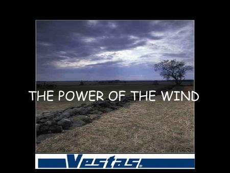 THE POWER OF THE WIND. The wind: a key factor in world economy Wind needs clean, renewable and competitive sources of energy; wind is a very competitive.