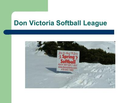 Don Victoria Softball League. April 4, 2011 Coaches Meeting for T-Ball Coaches.