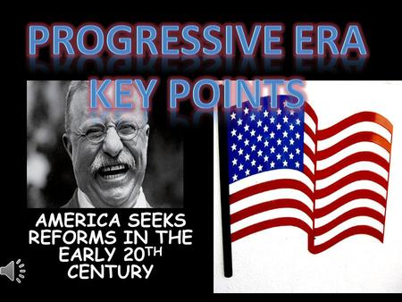 AMERICA SEEKS REFORMS IN THE EARLY 20 TH CENTURY.