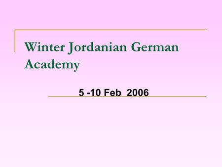 Winter Jordanian German Academy 5 -10 Feb 2006. Governing Equations for Combustion Processes Prepared By: Rasha Odetallah & Fatima Abbadi.