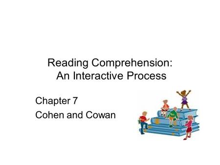 Reading Comprehension: An Interactive Process Chapter 7 Cohen and Cowan.