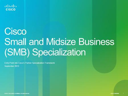 Cisco Small and Midsize Business (SMB) Specialization