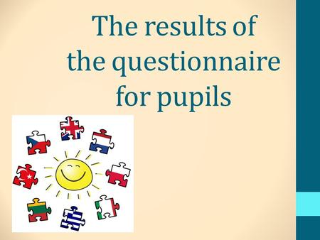 The results of the questionnaire for pupils. Szkoła Podstawowa im. H. Sienkiewicza w Cianowicach - POLAND - The questionnaire was completed by 85 children: