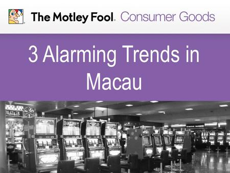 3 Alarming Trends in Macau. Gaming Revenue Is Falling Off a Cliff Gaming revenue has dropped to levels not seen since 2011. February gaming revenue fell.