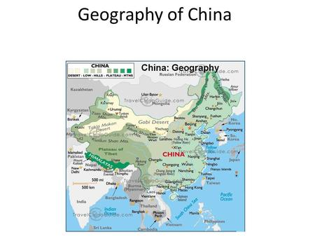 Geography of China. Yellow River Also known as the Huang He The 6 th longest river in the world – 3,400 miles long Yellow because of a material called.