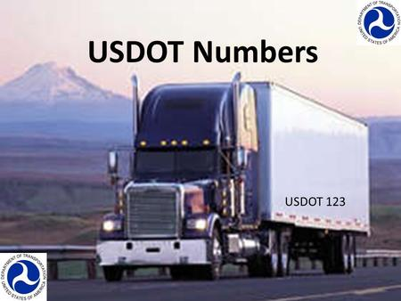 USDOT Numbers USDOT 123. What is a USDOT #? The USDOT # is the number that the Federal Motor Carrier Safety Administration (FMCSA) assigns to each commercial.