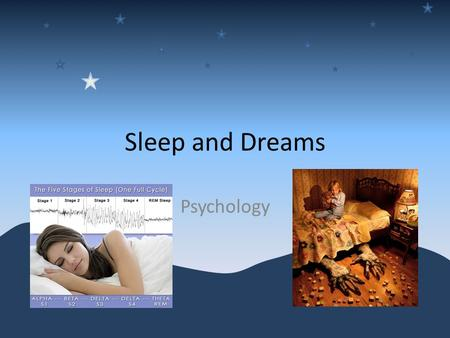 Sleep and Dreams Psychology.