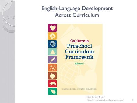 English-Language Development Across Curriculum Unit 7 - Key Topic 3