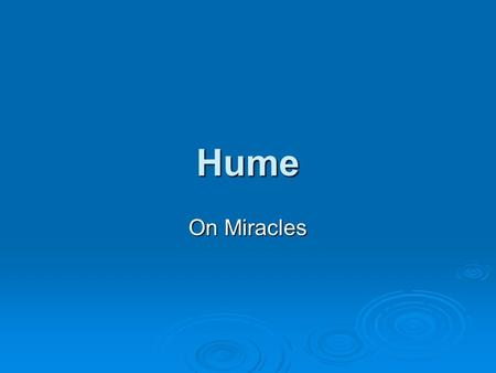 hume on miracles essay