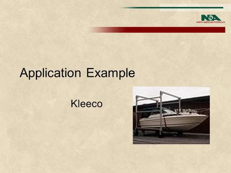 Application Example Kleeco. 1 st Customer Request I have some preliminary data for the wheel drives on a new machine. This is a 110 ton capacity 4 wheel.