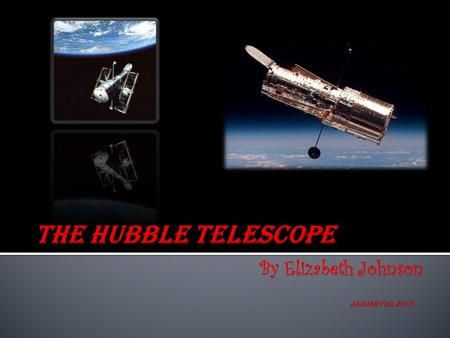  Hubble telescope is a powerful orbiting telescope that gives great images from space.  It is about the size of a large tractor-trailer truck.  Hubble.