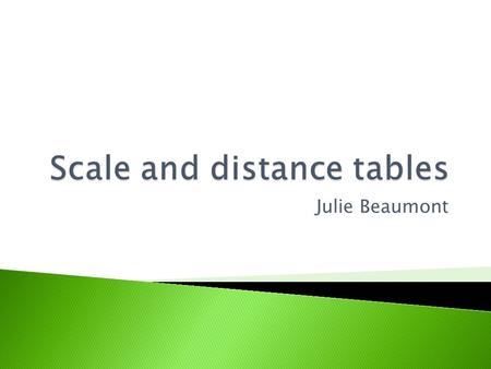 Julie Beaumont.  Work out dimensions from a scale drawing  Work out distance using a scale on a map  Take part in a scale measurement quiz.