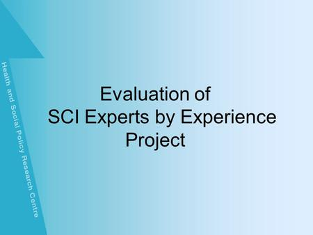 Evaluation of CSCI Experts by Experience Project.