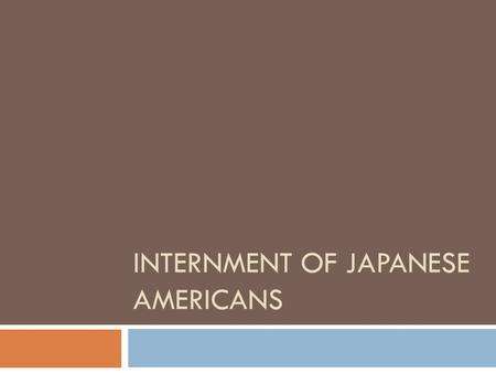 INTERNMENT OF JAPANESE AMERICANS. Map of Camps (1942-1946)