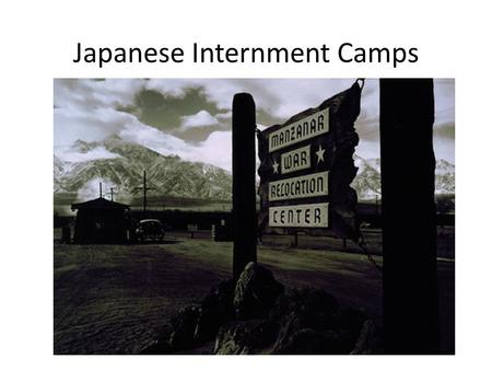 Japanese Internment Camps. On December 7, 1941, the Imperial Japanese Navy attacked Pearl Harbor, bringing the United States into World War II. December.