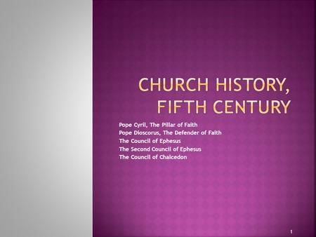 Church History, Fifth century