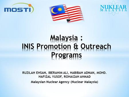 Malaysia : INIS Promotion & Outreach Programs
