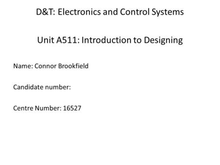 ocr as electronics coursework