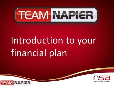 Napierstudents.com Introduction to your financial plan.