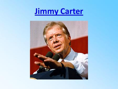 Jimmy Carter Carter in the Navy POLITICS Became Georgia's 76th governor in 1971. Served as chairman of the Southern Regional Education Board, the Appalachian.