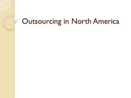 Outsourcing and poverty in america