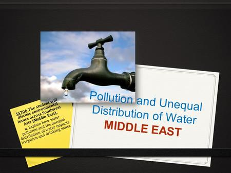 Pollution and Unequal Distribution of Water MIDDLE EAST