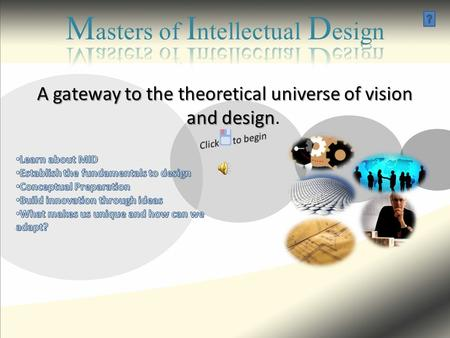 A gateway to the theoretical universe of vision and design A gateway to the theoretical universe of vision and design.