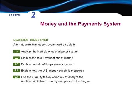 Money and the Payments System