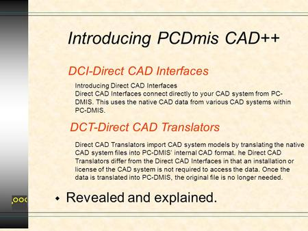 DCI-Direct CAD Interfaces