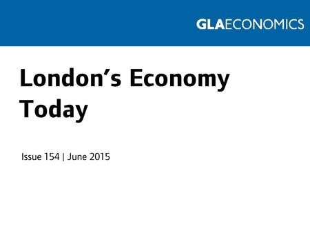 London's Economy Today Issue 154 | June 2015. Moving average of passenger numbers Source: Transport for London.