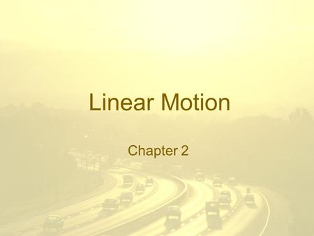 Linear Motion Chapter 2. Vectors vs Scalars Scalars are quantities that have a magnitude, or numeric value which represents a size i.e. 14m or 76mph.
