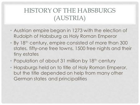 History of the Habsburgs (Austria)
