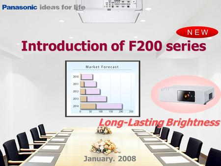 NEW January. 2008 Long-Lasting Brightness Introduction of F200 series.