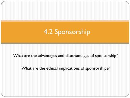 what is the relationship between sport media and sponsorship