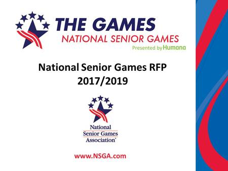 National Senior Games RFP 2017/2019 www.NSGA.com.