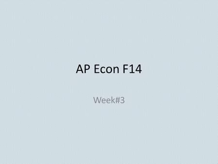 AP Econ F14 Week#3 Economics 9/15/14  OBJECTIVE: Examine Supply, Demand and Market Equilibrium. AP Macro-I.D Language objective: