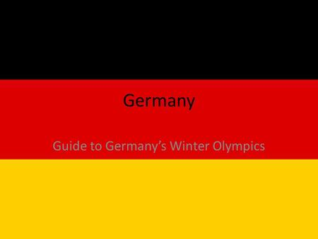 Germany Guide to Germany's Winter Olympics. Germany is the fifth largest country in the Olympics behind USA, Canada, Russia, and Switzerland.
