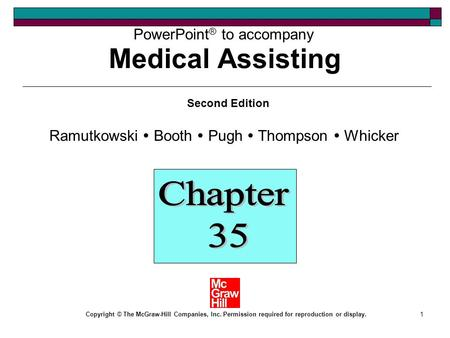Medical Assisting Chapter 35