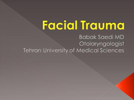 Babak Saedi MD Otolaryngologist Tehran University of Medical Sciences