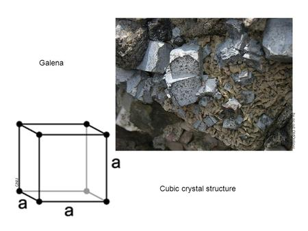 Galena Cubic crystal structure by-nc-nd: OldOnliner GNU.