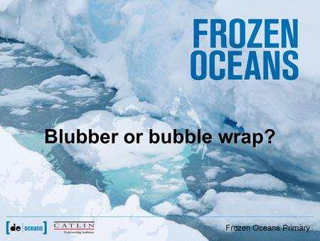 Frozen Oceans Primary Blubber or bubble wrap?. Frozen Oceans Primary Which animal is best adapted to live in the Arctic?