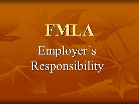 FMLA Employer's Responsibility. Logging in Go to Blue Page Click on TACS.